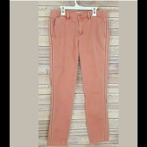 Anthropologie Rose Striped Chino Pants 27